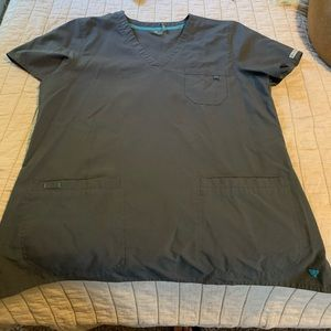 Gray Med Couture scrub tops